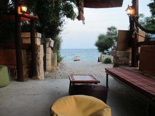 Strandbar in der kleinen Bucht