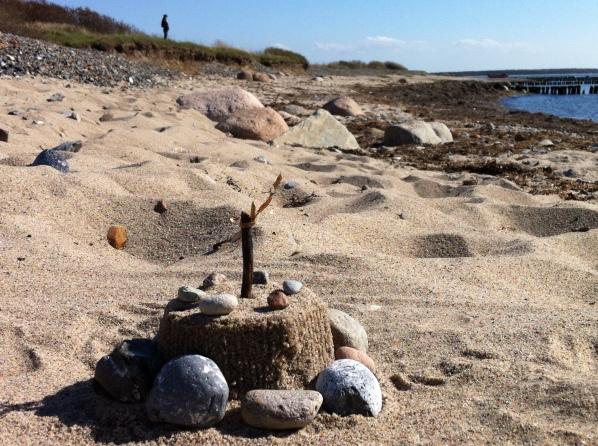 Skulptur aus Sand