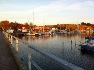 Yachthafen Seedorf im Abendrot / Marina Seedorf, Rügen / Foto: © Camping Korrespondent