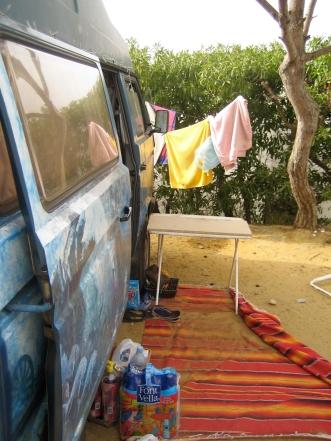 Begehrter Spot auf Campingplatz
