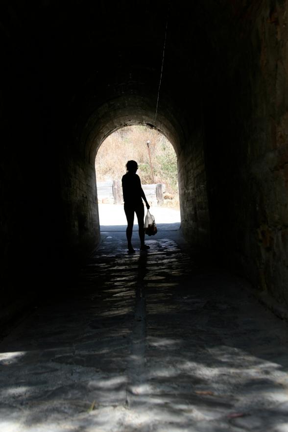 Tunnel zur Rezeption