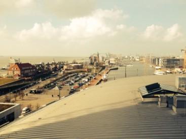 Blick über Havenwelt Bremerhaven