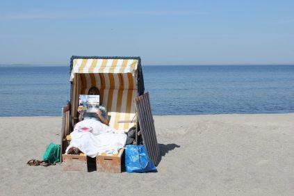 Strandkorb an der Ostsee auf Poel