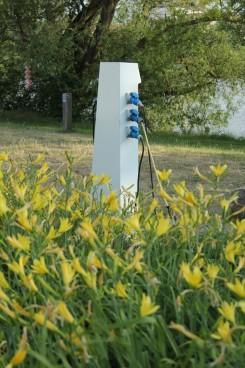 Stromanschlüsse für die Wohnmobile