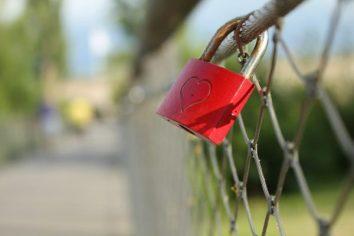 Liebesschlösser in Kitzingen