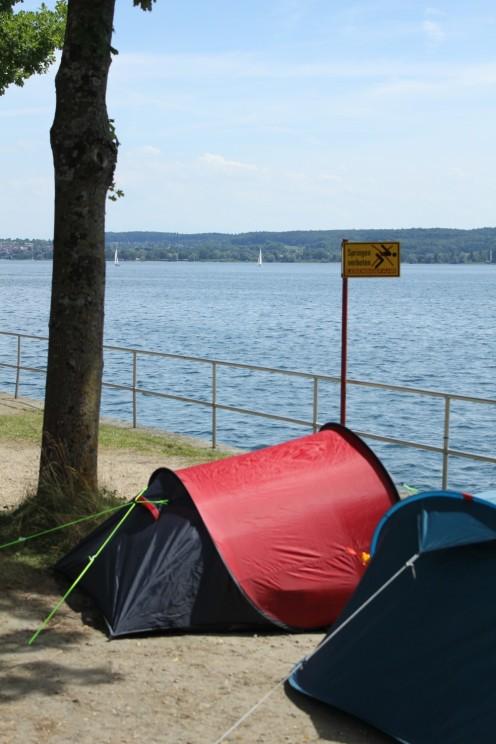 Zelter auf dem Campingpark Überlingen