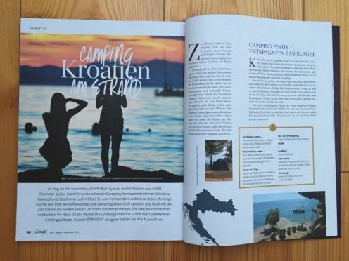 Camping Korrespondent Artikel über Kroatien