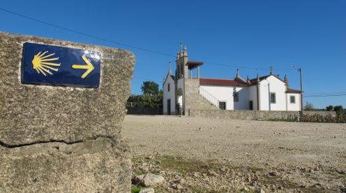 Caminho Português: einfach dem Symbol folgen / Foto: ©Camping Korrespondent