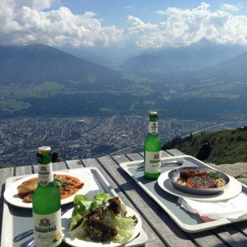 Nordkette, Blick auf Innsbruck / Foto: © Camping Korrespondent